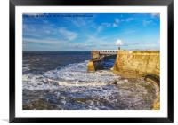 Swirling Sea at Whitby., Framed Mounted Print