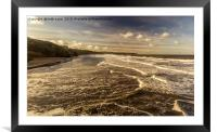 Breaking Waves Whitby, Framed Mounted Print
