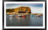 Staithes Harbour , Framed Mounted Print