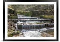 Cascading Down, Framed Mounted Print