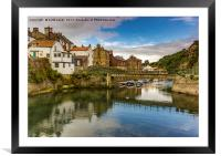Staithes Upper Harbour, Framed Mounted Print