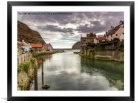 Staithes Harbour, Framed Mounted Print