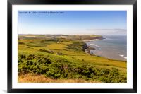 The view from Boulby cliffs, Framed Mounted Print