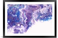 Underwater Worlds Fragment. 4  Abstract Fluid Acry, Framed Mounted Print