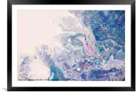 Underwater Worlds Fragment 5.  Abstract Fluid Acry, Framed Mounted Print