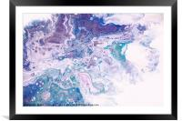 Underwater Worlds Fragment 8.  Abstract Fluid Acry, Framed Mounted Print