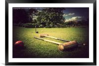 Quintessetialy Croquet, Framed Mounted Print