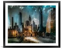 Old New York, Framed Mounted Print