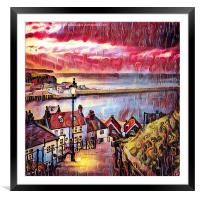 Sweet Whitby, Framed Mounted Print