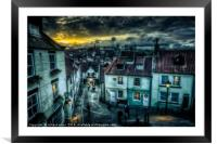 Step Up Step Down, Framed Mounted Print