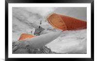 Prayerflags in the wind, Framed Mounted Print