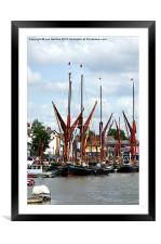Thames Sailing Barges, Framed Mounted Print