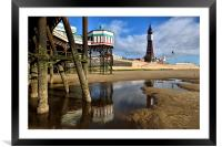 Blackpool Tower From Under North Pier, Framed Mounted Print