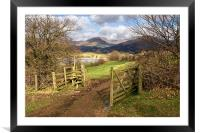 Gate To The Countryside Latterbarrow, Framed Mounted Print