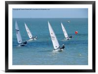 Dingy race, Framed Mounted Print