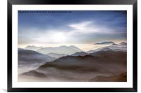 Misty mountains                        , Framed Mounted Print