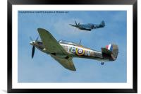 Hurricane and Spitfire, Framed Mounted Print