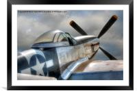 P51 Mustang Ready for Action, Framed Mounted Print