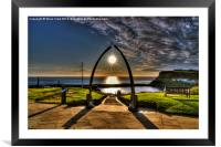 Whale Jaw Bone Arch- Whitby, Framed Mounted Print