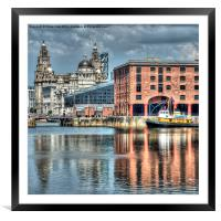 Albert Dock Liverpool (Square), Framed Mounted Print