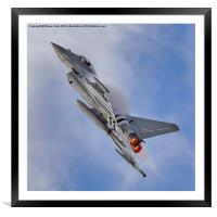 Eurofighter Typhoon (D-Day Stripes), Framed Mounted Print