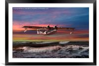 Catalina Flying Boat at Sunset (RAF Version), Framed Mounted Print
