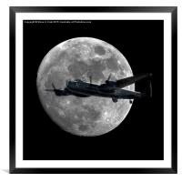 Bomber's Moon (Square Version), Framed Mounted Print