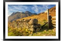 The Langdale Pike, Framed Mounted Print