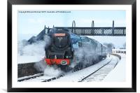 Winter Day Departure at Swanwick, Framed Mounted Print