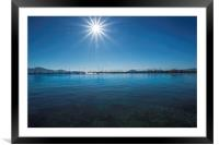 Sun Flares, Framed Mounted Print