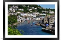 Boats on the River Looe, Framed Mounted Print