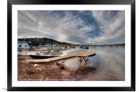 The old boat launch on Teignmouth Back Beach, Framed Mounted Print