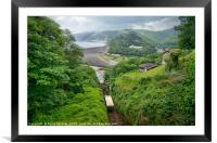 The Lynton and Lynmouth Cliff Railway North Devon, Framed Mounted Print