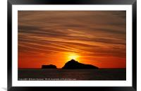 Thatcher Rock and The Orestone at sunrise , Framed Mounted Print