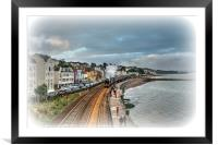 The Flying Scotsman passing Dawlish in South Devon, Framed Mounted Print