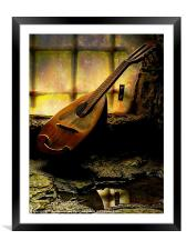 Antique Mandolin In The Castle Window, Framed Mounted Print