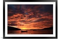 Another Lovely Trondra Sunset, Framed Mounted Print