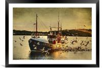 COMRADES With Catch Of Fish, Framed Mounted Print