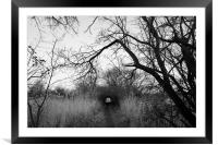 The spooky path across the marshes, Framed Mounted Print