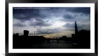London looms, Framed Mounted Print