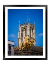 King Billy statue, Hull, Framed Mounted Print