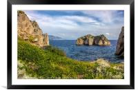 Capri island in a beautiful summer day in Italy, Framed Mounted Print
