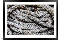 Coiled Rope, Framed Mounted Print