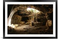 cave in Israel, Framed Mounted Print