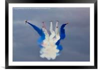 Vapour Trails - The Red Arrows, Framed Mounted Print