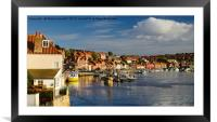 Evening at Whitby Harbour, Framed Mounted Print
