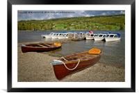 Boats on Coniston Water, Framed Mounted Print