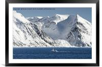 Arctic Landscape Between Hammerfest and Oksfjord, Framed Mounted Print