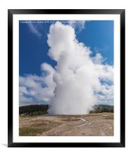 Old Faithful in Yellowstone Park, Framed Mounted Print
