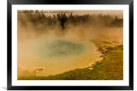 Artists Paint Pots - Yellowstone National Park, Framed Mounted Print